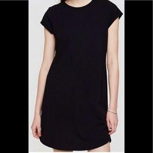 LOU & GREY black short sleeved shirt dress